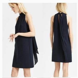 THEORY CLEAN HALTER DAY DRESS